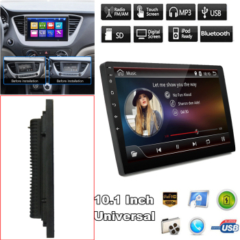 10 Inch 2Din Car Stereo MP5 Player Android 8.1 Quad Core Wifi Car Radio DVD Player GPS 1+16G USB Bluetooth MP5 Player image
