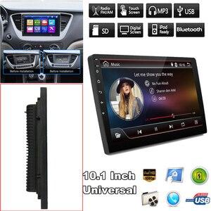 10 Polegada jogador mp5 estéreo do carro 2din android 8.1 quad core wifi rádio carro dvd player gps 1 + 16g usb bluetooth mp5 jogador