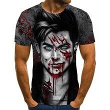Мужская футболка с 3d принтом ужасов модная Новая Летняя мужская