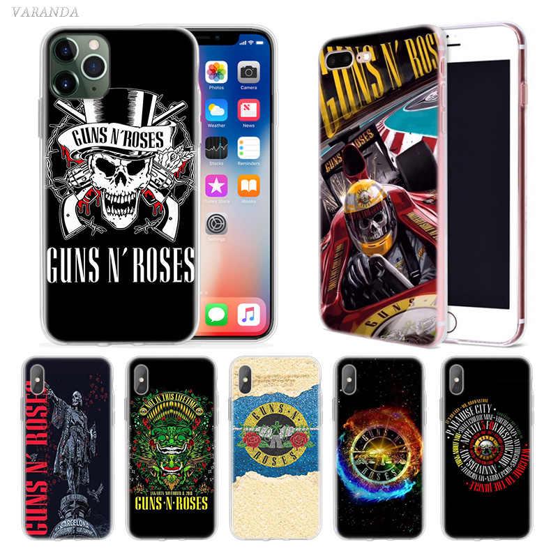 Guns N Roses Music Case for Apple iphone 11 Pro X XS Max XR 7 8 q50