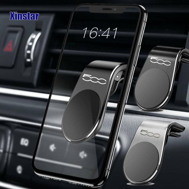 Voiture support pour téléphone autocollant voiture style Automobile accessoires pour fiat 500