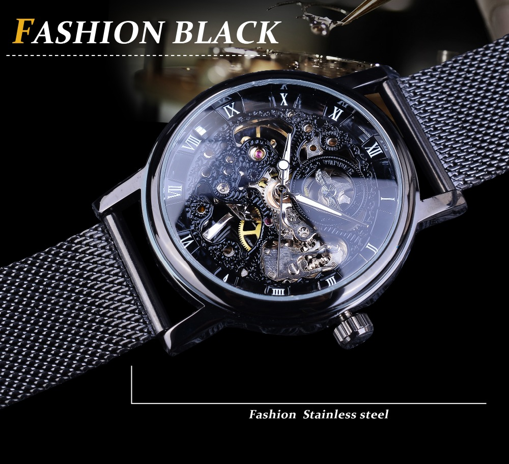 H686c6f3fa730453da03164fe9e19bf7dl Winner Stainless Steel Mesh Band Transparent Classic Thin Case Hollow Skeleton Mens Male Mechanical Wrist Watch Top Brand Luxury