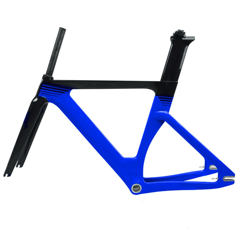 49 51 54 57cm Track Bicycle Frame Carbon Track Bike Frame Material From Taiwan Fixed Gear Bike Frameset Hot Sale
