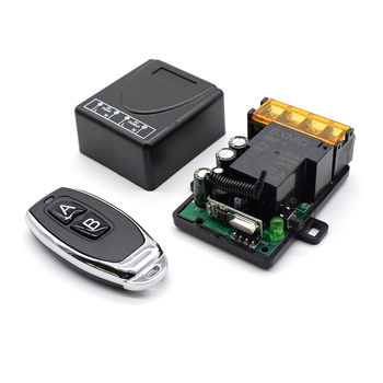цена на AC 220V 30A 1CH RF 433MHz Wireless Remote Control Switch Receiver Module + 433mhz Transmitter Kit For Intelligent Home