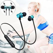Wireless Bluetooth Earphone Magnetic Handsfree Neckband Sport Music Headset Stereo With Mic Headset For All Smart Phone On Sale