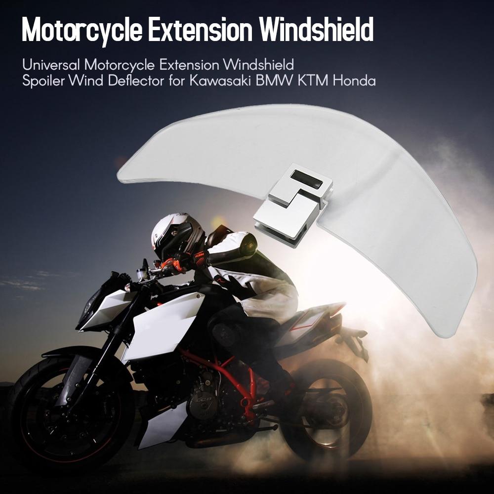 Extensi/ón Deflector de Viento Parabrisas Universal KKmoon Parabrisas Moto