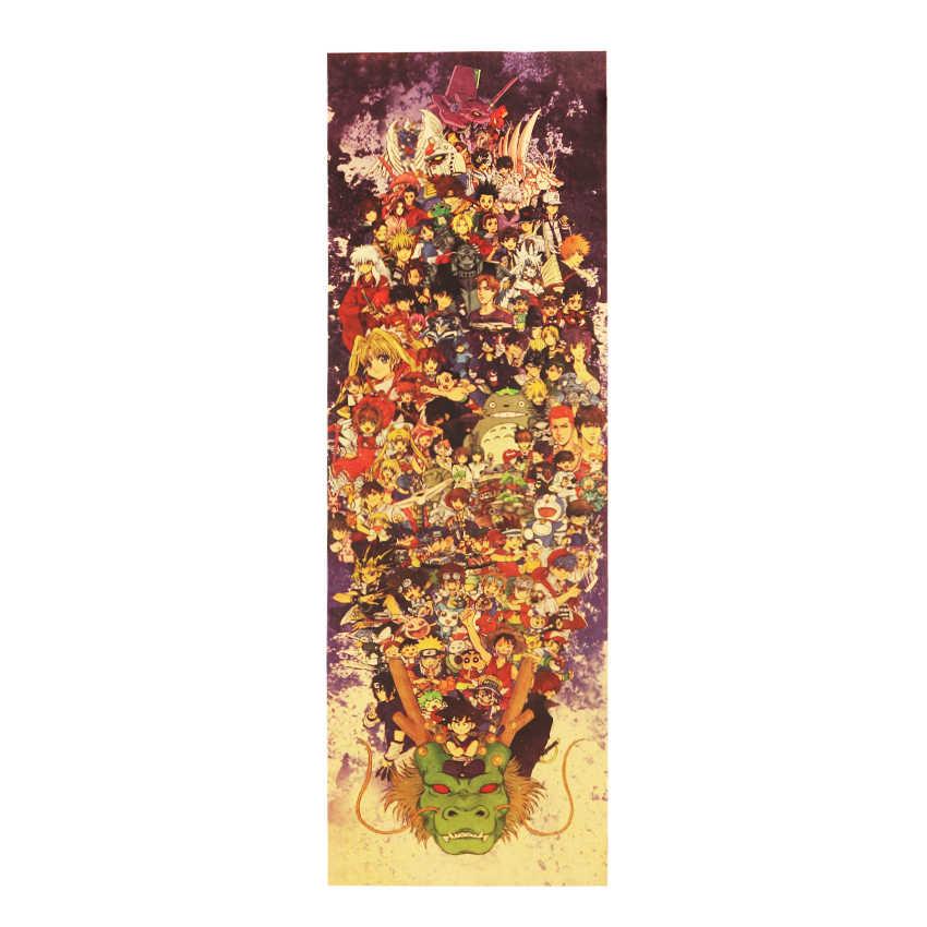 مجموعة كبيرة من انمي ياباني خمر كرافت ديكور ملصق DIY بها بنفسك الجدار ملصق حساسة شريط المنزل ديكور هدية