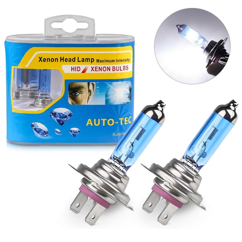 1 Set/2pcs White H7 100W 12V Halogen Lamp For BMW 6000K Bright Bulb Halogen Xenon Headlight Car Halogen For VW For Audi For Ford