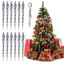 12 шт., 13 см, имитация льда, рождественской елки, подвесное украшение, поддельная сосулька, реквизит для зимы, замороженные, вечерние, рождественская елка, подвесное украшение