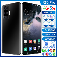 Wersja globalna X60 Pro 128/256GB 6.6 Cal ekran kropla wody smartfony 5000mAh Andriod 10 Dual SIM + karta Micro SD telefon komórkowy