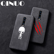 QINUO Luxury Shockproof Magician skull Suede Case For OnePlus 7 7Pro 5 5T 6 6T Leather Batman Telefon Kilifi Cover Coque Funda(China)