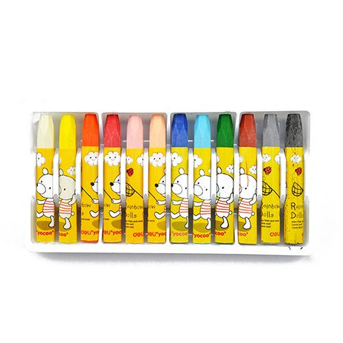 2019 Wax Crayon Kids Oil Painting Stick Candy Color Oil Pastel Crayon Child Safety Non-toxic Pastel 12 Colors Per Box Gift