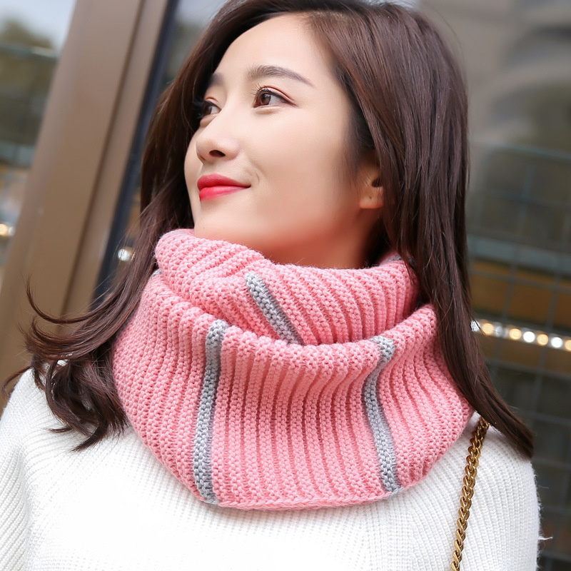 Man Women Warm Snood Scarf Winter Cashmere Fashion Knitted Infinity Scarf Neckwarmer Circle Ring Soft Solid Color Couples Scarf
