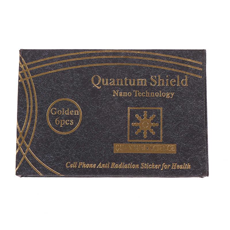 SHIELD สติกเกอร์โทรศัพท์มือถือสติกเกอร์ 6pcs สำหรับโทรศัพท์มือถือป้องกันรังสีป้องกัน Excel Anti-รังสี
