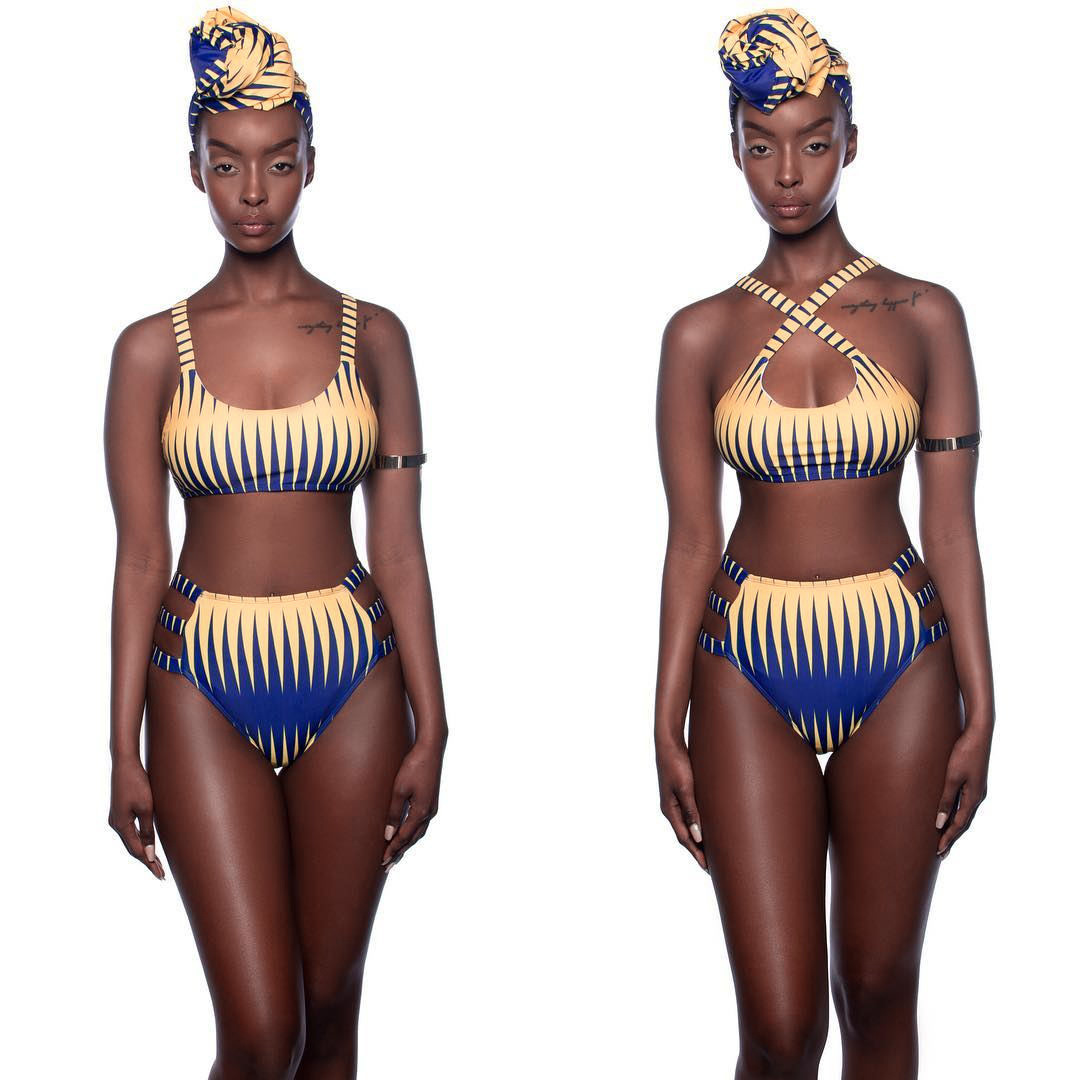 Hot Selling Europe And America-Printed Bikini Bathing Suit Beach Mantle Coat Three-piece Set S1058