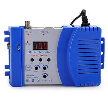 Modulator HD HDM68 cyfrowy HDMI RF VHF UHF Modulator częstotliwości dla TV komputer akcesoria ue wtyczka 100-240V tanie i dobre opinie VBESTLIFE Przewodowy Zewnętrzny Zdjęcie Modulator HDM68 Digital VHF UHF RF Modulator HD Modulator Digital Modulator Modulator for TV
