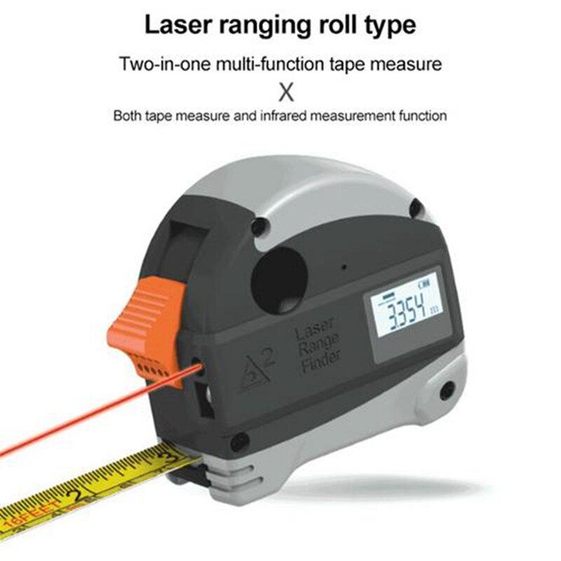 Laser Tape Measure USB Charging Infrared High Precision RangeFinder Digital Tape Measuring Tools Laser Ruler Laser Measure