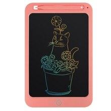 10 дюймов Цвет ЖК-планшет цифровой планшет для рисования для детей ручная роспись бортовой Портативный электронный Графика доска с замком, снегоступы, ремешок