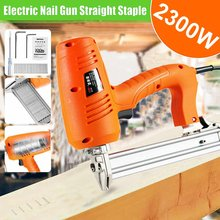 2300W 220V Electric Nail Gun (Straight+Staple) Framing Tacker and Stapler Woodworking Tools Portable Electric Tacker Gun(China)