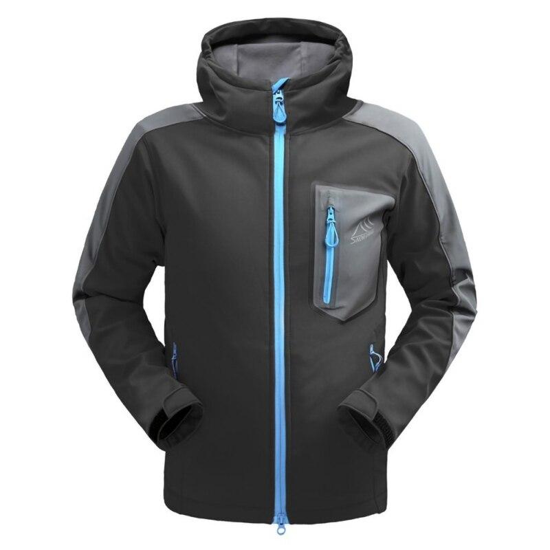 Men Outdoor  Jacket Waterproof Hooded Softshell Fleece Rain Coat Windbreaker Camping Trekking Sportswear