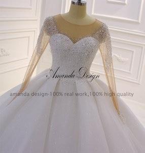 Image 5 - アマンダデザイン hochzeit クリスタルケバケバスパークルのウェディングドレス