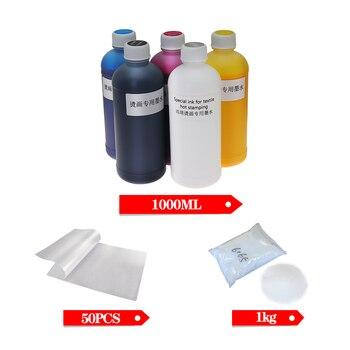 1000ML*5 DTG Ink Kit  50 pcs DTF Film For DTF Printer For DTF Direct Transfer Film Printer DTF PET Film Hot Melt Powder 1