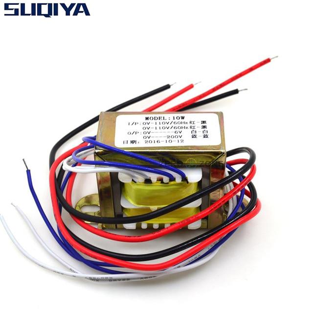 SUQIYA Free shipping 10VA MINI tube preamp EI transformer 2 * 110V input 0 6V 1A 220V 20mA AC output