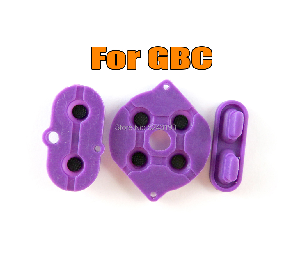 2sets For Gameboy Color GBC console buttons repair silicon conductive Rubber pads conductive button A-B d-pad(China)