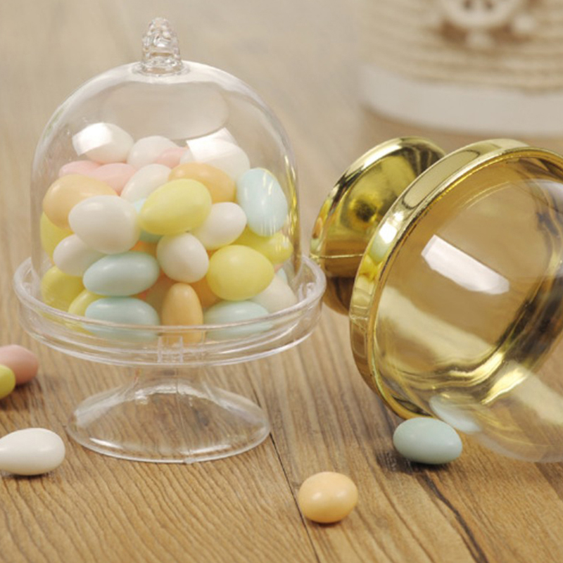 1PC New Transparent Plastic Tray Candy Box for DIY Wedding Candy Box Baby Shower Birthday Guests Gift Box Party Supplies