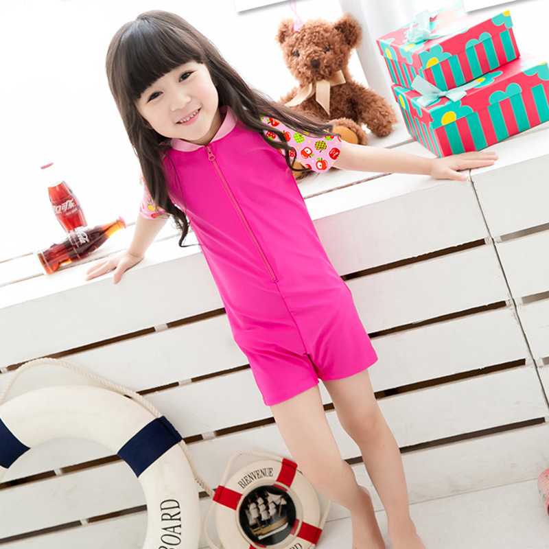 Youyou KID'S Swimwear Girls One-piece Han Bao Bao Cute Sun-resistant Quick-Dry-Size Child Children Tour Bathing Suit