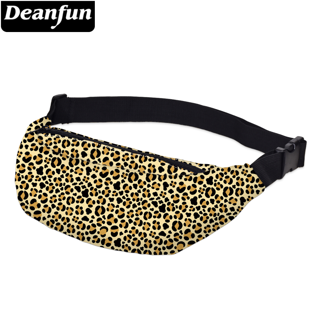 Deanfun Printing Heart Fanny Packs For Men Waterproof Red Waist Pack Man Shoulder Bag Lipstick Love Gift  YB-58