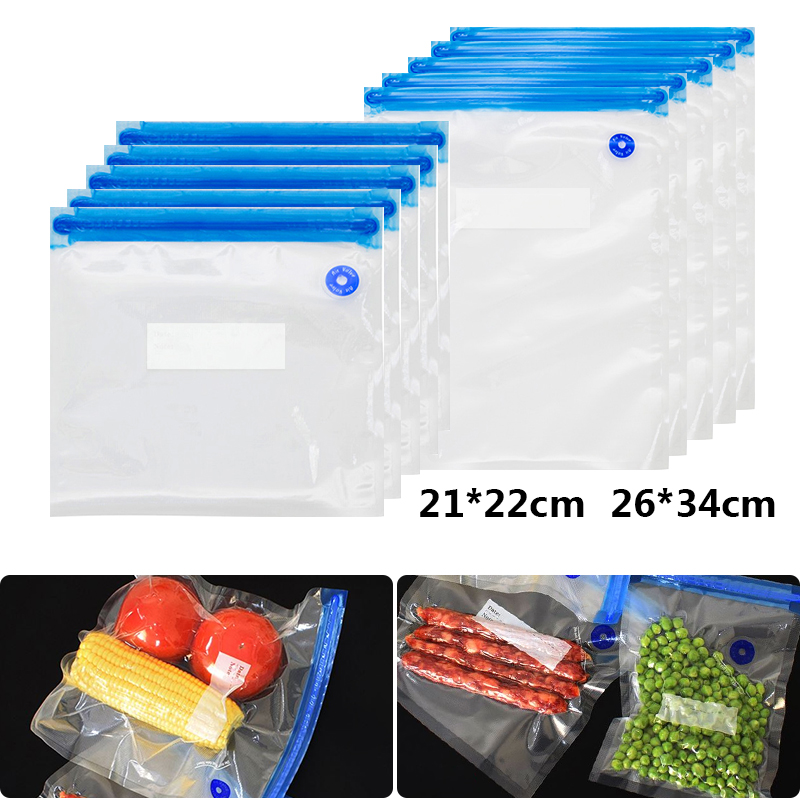 5pcs Handy Portable Sealing Food Vacuum Sealer Bags Machine Kitchen Always Fresh Seal Vac Heat Sealing Machine