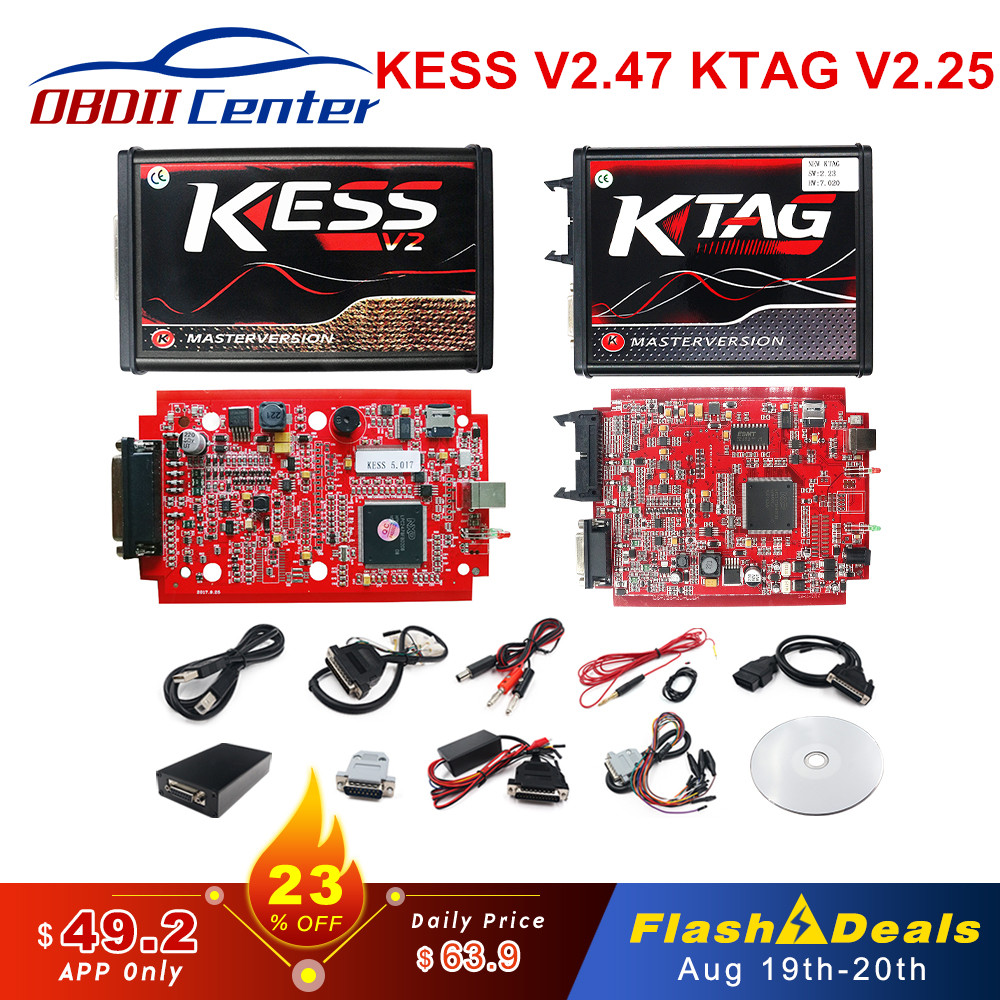 V2 47 Online EU Red KESS V2 5 017 Full Master OBD2 Manager