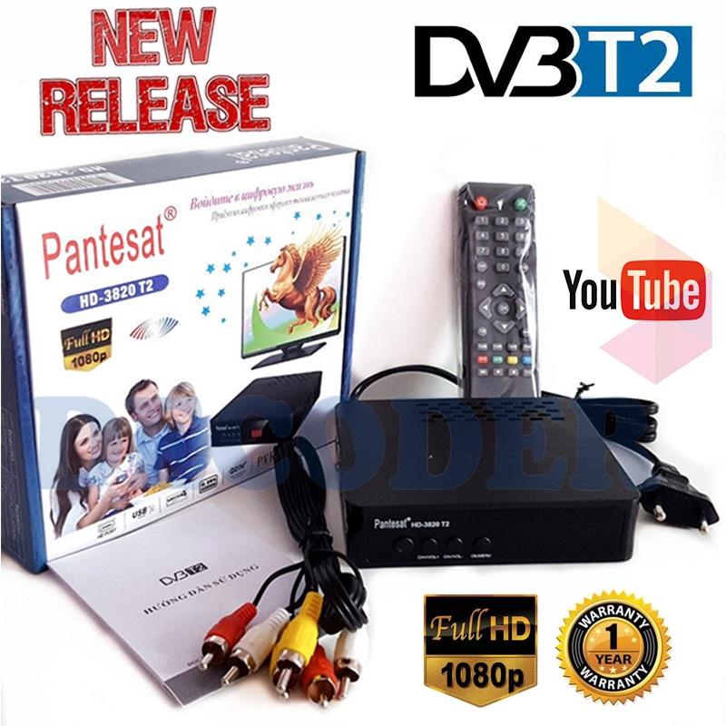 HD Satellite Tv Receiver Tuner Dvb T2 Wifi Usb Full-HD 1080P Dvb-t2 Tuner TV Box Dvbt2  IPTV M3u Youtube Built-in English Manual