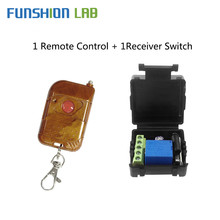 FUNSHION Remote Control 433Mhz DC12V 1CH RF Relay Receiver  433mhz Transmitter For Switch Garage Gate Door Motor