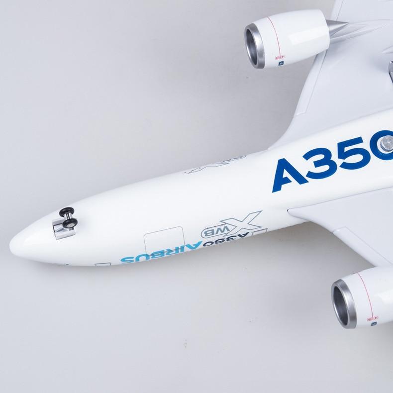 luz e roda diecast plástico resina avião para a coleção