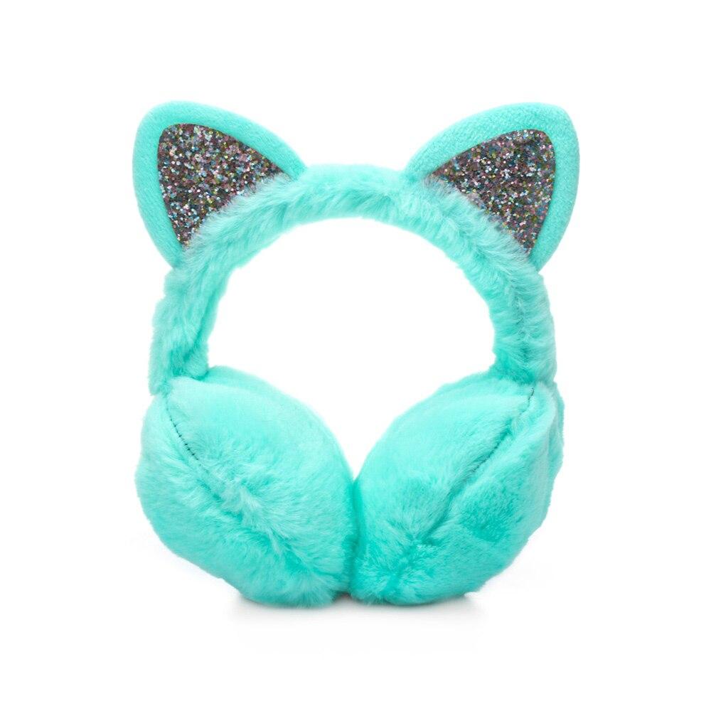 Зимние наушники для ушей, теплые детские милые утепленные плюшевые наушники с единорогом, новинка, высокое качество, покрытие для ушей, теплые аксессуары, детские подарки - Цвет: 2