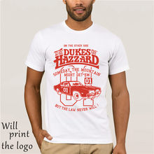 Dukes of Hazzard camiseta General Lee, Dodge Charger Kult Auto suelto Negro hombres camisetas Homme Camisetas básicas(China)