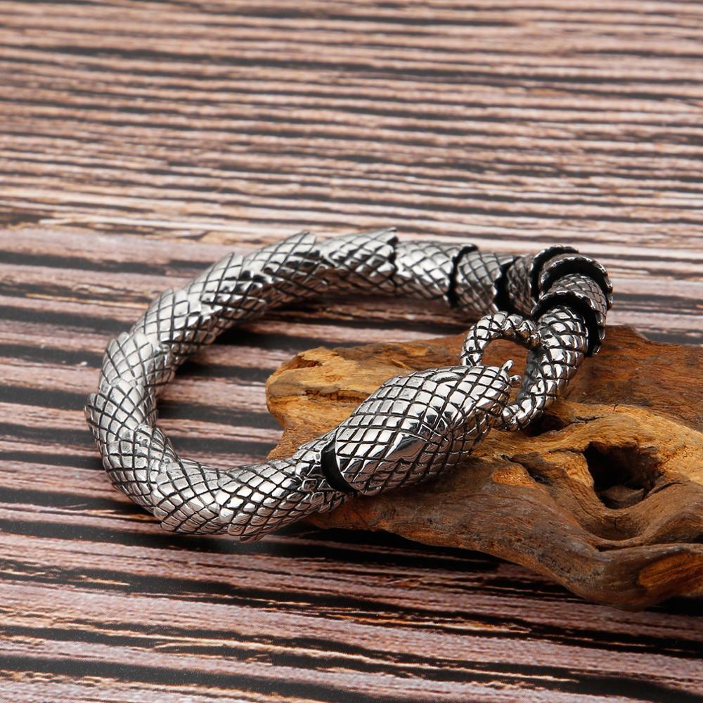 Bracelet rétro serpent chaîne en acier inoxydable 4
