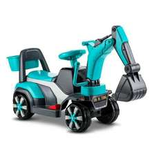 Children Toy Car Construction Excavator Four Wheels Electric with Music Kids Ride on Toys Plastic Cars for