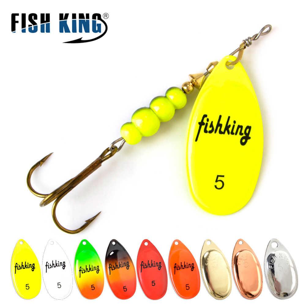 Ikan Raja Pemintal Umpan 3.9G 4.6G 7.4G 10.8G 15G Sendok Umpan Pike Logam dengan Treble kait Arttificial Bass Umpan Memancing Umpan