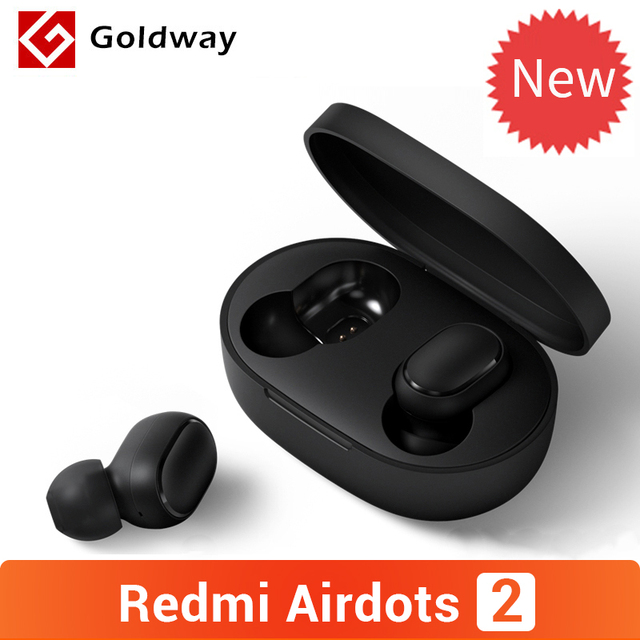 Original Xiaomi Redmi AirDots 2 Wireless Bluetooth 5.0 Earphone In-Ear stereo bass Earphones With Mic Left Right Low Lag Mode