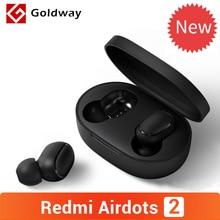 Original Xiaomi Redmi AirDots 2 sans fil Bluetooth 5.0 écouteur In Ear stéréo basse écouteurs avec micro gauche droite Mode faible décalage