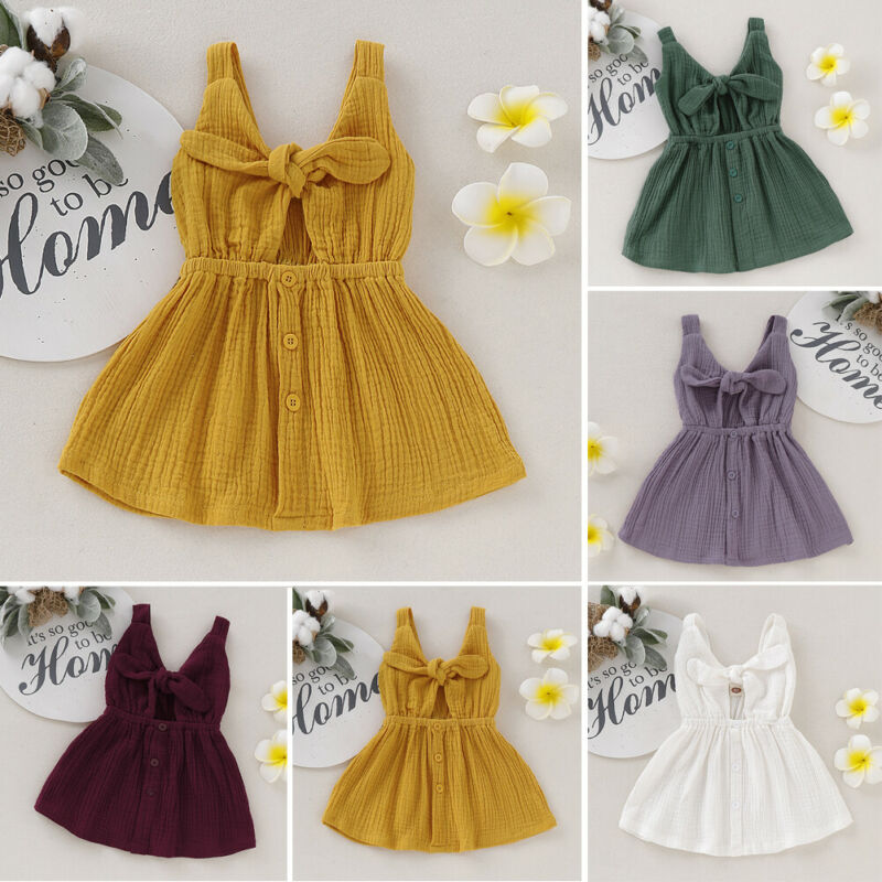 Toddler Kids Baby Girl Ruffle Elegant Princess Party Dress Clothes Children New Fashion Clothing Solid Dresses