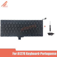Full New A1278 Portuguese Laptop keyboard For Macbook Pro 13 A1278 Portuguese keyboard 2009 2010 2011 2012 year new for macbook pro 13 a1278 topcase palm rest keyboard backlit us uk euro eu german french danish russian spanish 2011 2012