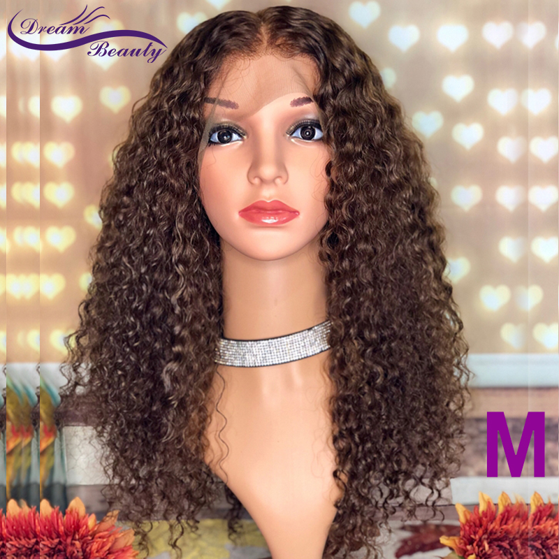 Dark Brown Color 13X6 Lace Front Hair Wigs With Baby Hair 8-24INCH PrePlucked Brazilian Remy Hair Medium Ratio Dream Beauty