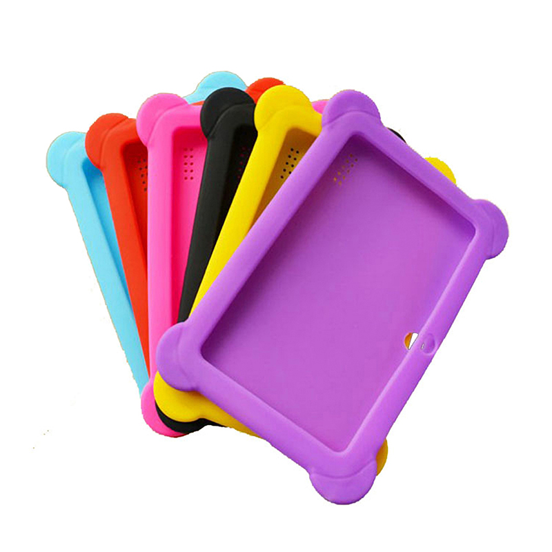 7 Inch Tablet TPU Gel Silicone Protector Case Shockproof Shell Cover For Q88 Android Tablet PC Kids