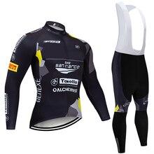 Зима Сан Марко Велоспорт Джерси 20D велосипед брюки набор Ropa Ciclismo толстый термо флис pro велосипедная куртка Майо Одежда