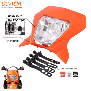 Universal H4 12V 35W Motorcycle Headlight Headlamp Fairing For YAMAHA HONDA KTM EXC SXF XCW 200 250 DUKE 200 390 Pit Dirt Bike image