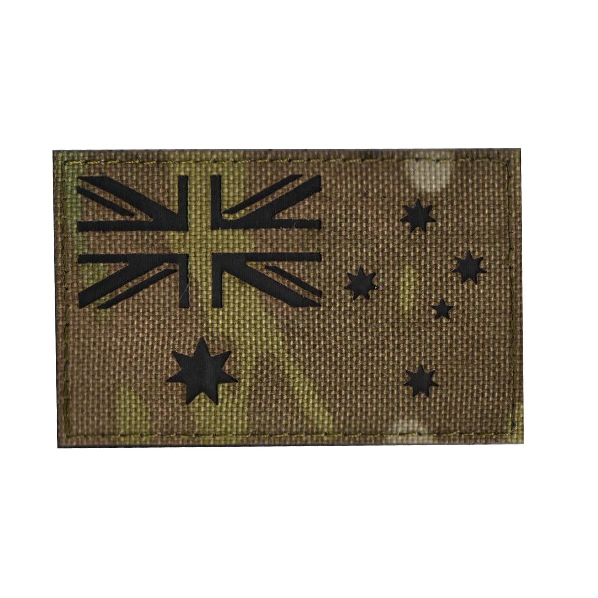 Aor2 Camouflage IR Laser Carving Shoulder Emblem Velcro Label Australia New Zealand Reflective Shoulder Emblem Bag With Chapter